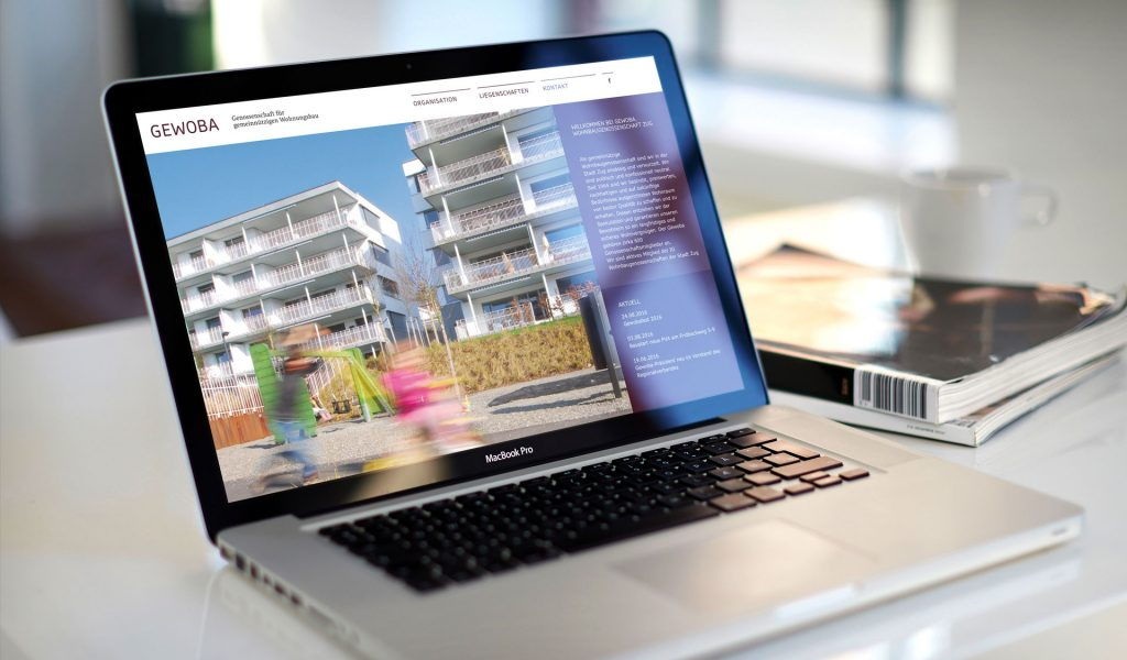 Website auf dem MacBook